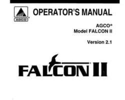 Ag-Chem AG599969 Operator Manual - Falcon 2 Controller System (version 2.1)