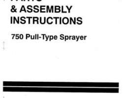 Ag-Chem AG711571C Parts Book - 750 Gallon Sprayer (pull type)