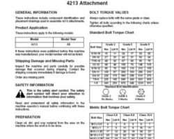 AGCO SN997847B Operator Manual - 4213 Coulter Chisel Plow Attachments