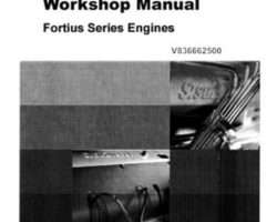 AGCO Sisu 33 44 66 74 84 Fortius Series Tier 2 Service Manual