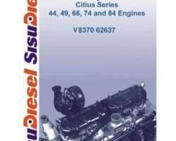 Ag-Chem Sisu 44 49 66 74 84 Citius Diesel Engine Service Manual