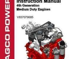 Fendt V837079685 Operator Manual - AGCO Power 33 / 44 Engine (4th generation medium duty)
