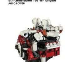 Ag-Chem V837091141 Operator Manual - AGCO Power Sisu 5th Generation 168 WF Engine