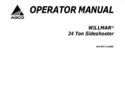 Willmar WR330550C Operator Manual - 24 Ton Sideshooter (2008)