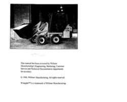 Willmar WRP0405 Operator Manual - 4300 Wrangler Loader (1998)