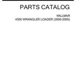 Willmar WRP0407F Parts Book - 4500 Wrangler Loader (2000-05)