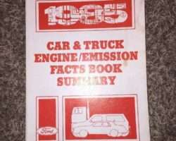 1985 Ford F-250 Truck Engine/Emissions Facts Book Summary