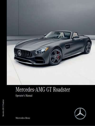 2020 Mercedes Benz AMG GT Owner's Operator Manual User Guide