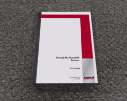 Parts Catalog Manual Book for Case IH Tractors model Farmall 90