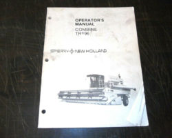 Operator's Manual for New Holland Combine model TR96