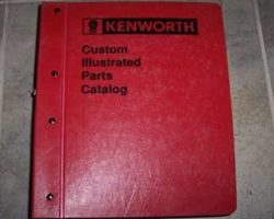 2017 Kenworth W900 Parts Catalog Manual
