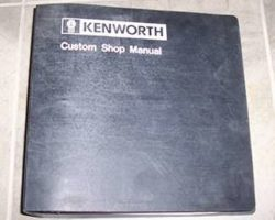 2017 Kenworth W900 Shop Service Repair Manual