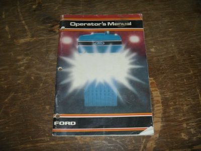 Operator's Manual for FORD Tractors model 500