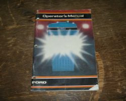 Operator's Manual for FORD Tractors model GT65