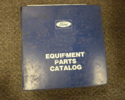 Parts Catalog for FORD Tractors model 855